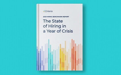 book cover - 2020 hiring benchmark report